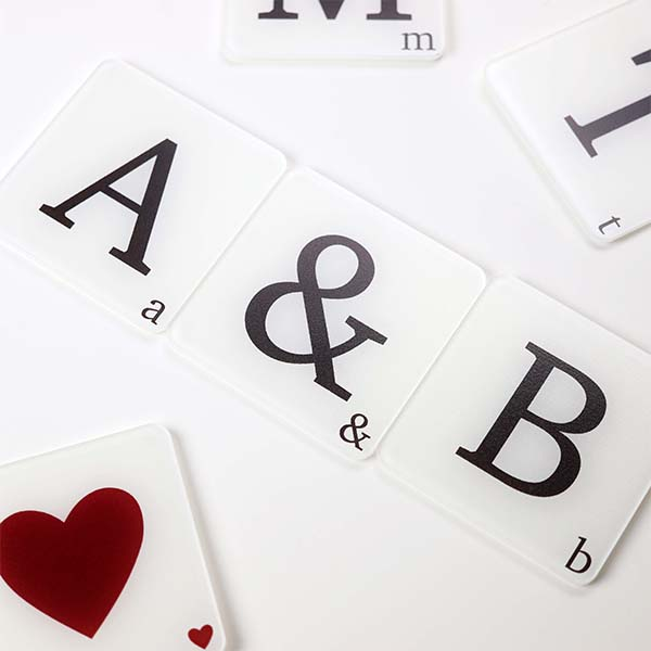 Alphabet A & B Coasters