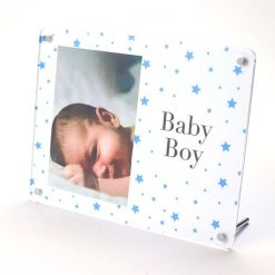 Baby Boy Freestanding Photo Frame