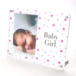 Baby Girl Freestanding Photo Frame