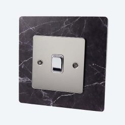 Black Marble Light Switch Surround