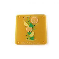 Blood Orange Themed Acrylic Gin Coaster 2
