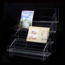 Clear Packet Extra Wide Tiered Display Rack