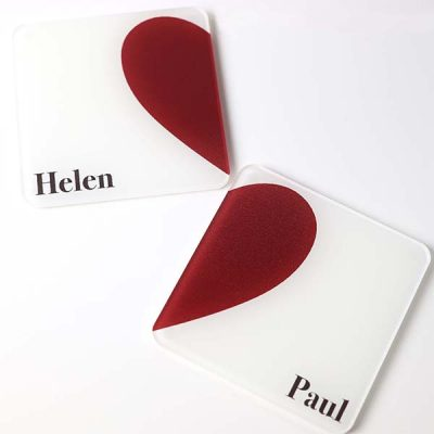 Couples Heart Coasters 2
