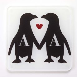 Couples Penguin Coaster