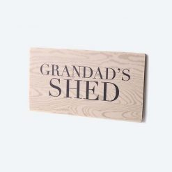 Grandad's Shed Printed Small Sign