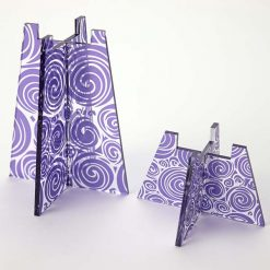 Group Of Purple Swirl Tea Light Holders Without Candle