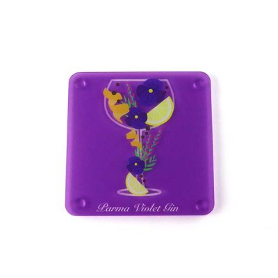 Parma Violet Themed Acrylic Gin Coaster 2