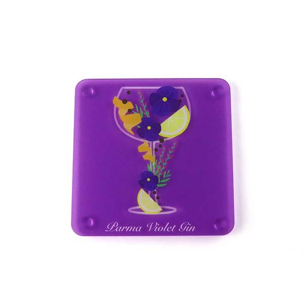 Parma Violet Themed Acrylic Gin Coaster 2