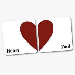 Personalised Couples Heart Coasters