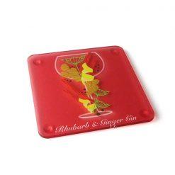 Rhubarb & Ginger Themed Acrylic Gin Coaster