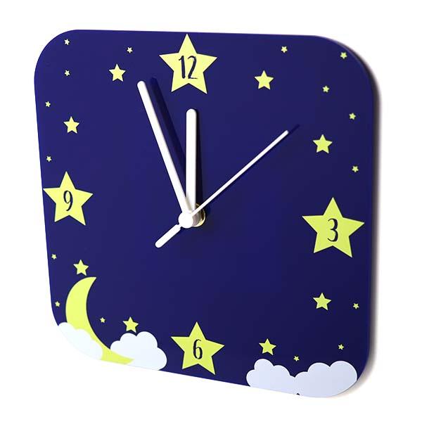 Starry Sky Design Acrylic Printed Small Wall Clock