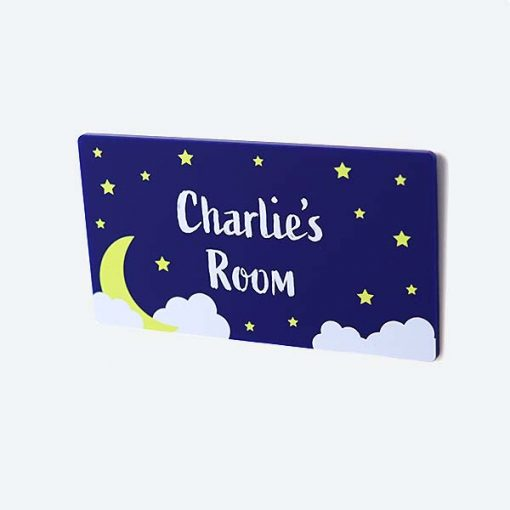 Starry Sky Personalised Small Door Sign