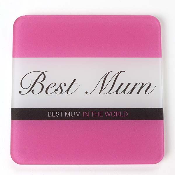 Best Mum Pink Gin Coaster