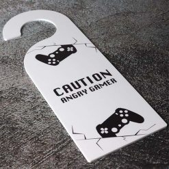 Caution Angry Gamer Acrylic Door Hanger