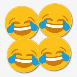 Cry Laughing Emoji Coaster