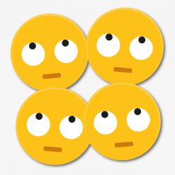 Eye Roll Emoji Coaster