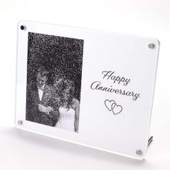 Happy Anniversary Freestanding Photo Frame