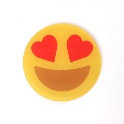 Heart Eyes Printed Acrylic Emoji Coaster