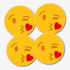 Kissing Emoji Coaster