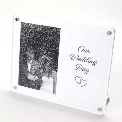 Our Wedding Day Freestanding Photo Frame