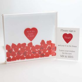 Personalised Wedding Guest Book Drop Box and Instructions Sign