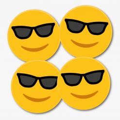 Sunglasses Emoji Coasters