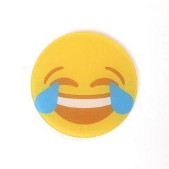 Tears of Joy Printed Acrylic Emoji Coaster