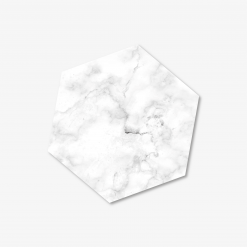 White Hexagon Coaster