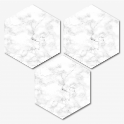 White Marble Hexagon Coasters