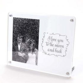 I Love You To The Moon And Back Photo Frame
