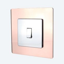 Rose Gold Mirror Light Switch Surround