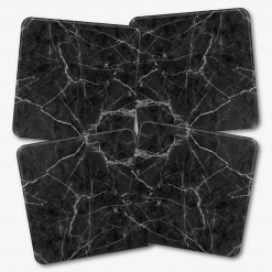 Black Marble Coasters Square
