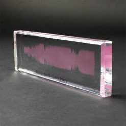 Acrylic Personalised Sound Wave Block Love Story