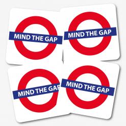 Mind The Gap Coaster - Set of 4