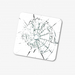Smashed Glass Effect Coaster