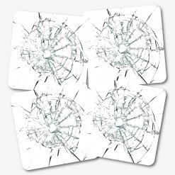 Smashed Glass Coaster - Set of 4