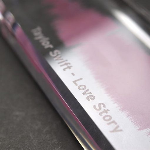 Acrylic Personalised Sound Wave Block Song Close Up