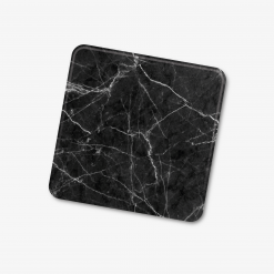 Square Black Marble Coaster