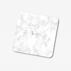 Square White Marble Coaster