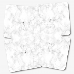 White Marble Coasters Square