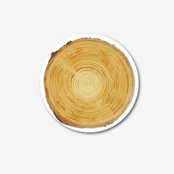 Round Wood Effect Coaster
