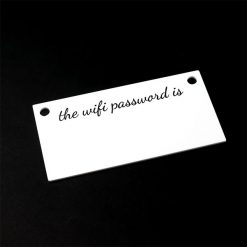 WiFi Password Sign 1