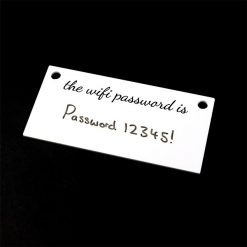 WiFi Password Sign with Writing