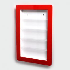 Framed Nail Varnish Stand with Red