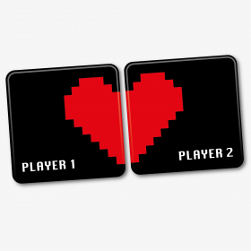 Player 1, Player 2 Gaming Coasters
