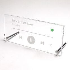 Song Plaque White
