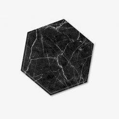 Black Hexagon Coaster