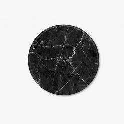 Black Round Marble Coaster
