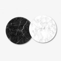 Black and White Marble Coaster Set