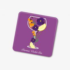 Parma Violet Gin Coaster